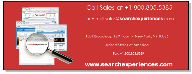 Search Experiences Sales